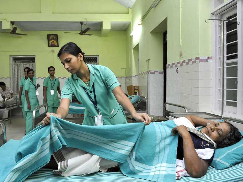 Kottayam is the 'nursing belt' of Kerala. Christian missionaries played a big role as mediators for nurses to travel abroad in the area. (HT photo)