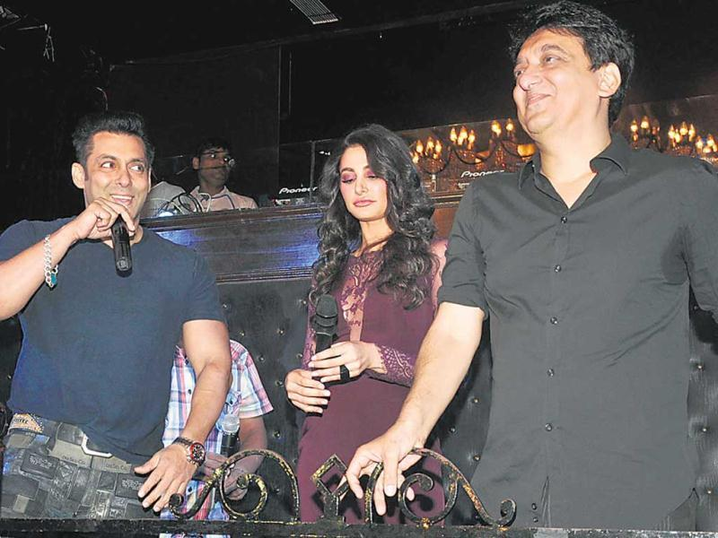 Salman Khan, Nargis Fakhri and Sajid Nadiadwala took to the stage at the launch of the song, Devil, from Kick. Salman was at his witty best and even sang a line from the track