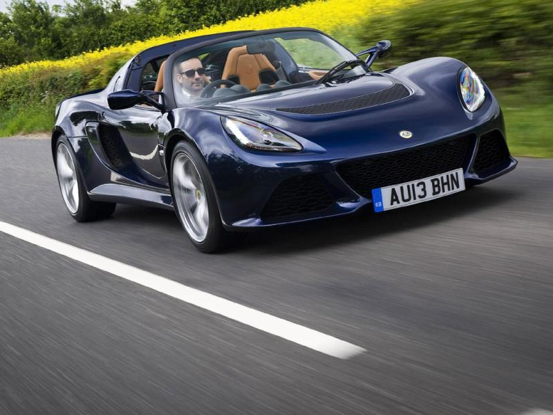 Lotus Exige S Roadster from €67,000/$91,000 : Lotus has a full-blooded track day car in the form of the 2-Eleven, but the road car it's based on, the Exige, is almost as capable, much better looking, has a roof and a lovely V6 engine to boot. Offering 345bhp and a 0-62mph time of 4 seconds it's no slouch and is as graceful in the bends as a ballerina. Photo:AFP