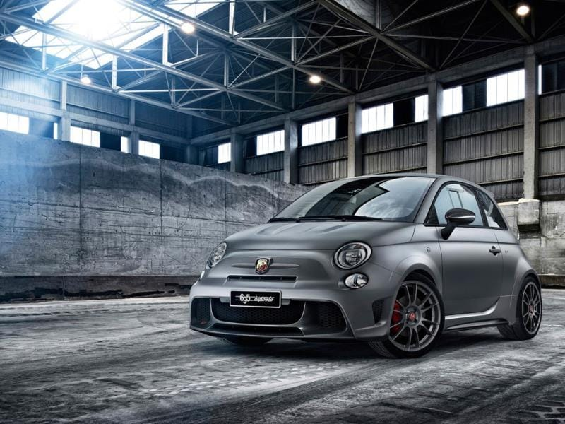The Abarth 695 biposto around €44,100/$60,000 : Something a little different. A track car doesn't have to be rear-wheel drive, it just has to be nimble, responsive and not carry too much excess or unnecessary weight. Based on the current racing car, this particular Abarth is as close as a consumer can get to driving the real thing without passing a racing licence. The only real compromise the company has made in its development is making it meet the requisite road requirements so that it can be driven, rather than transported to and from a track. Photo:AFP