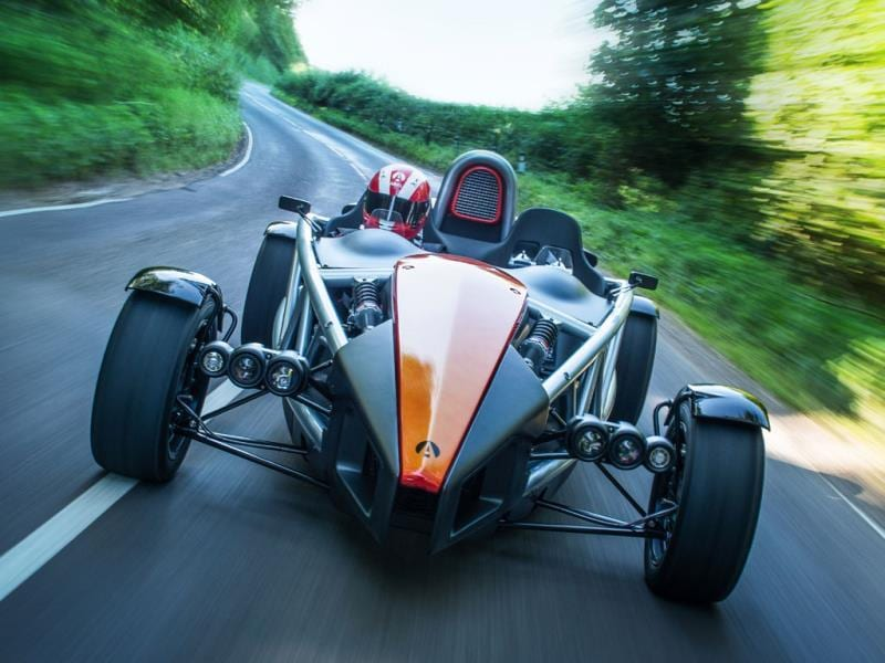 The Ariel Atom €37,500/$50,000 : It's got a 2-liter, 245bhp engine, but that's all it needs to go from 0-62mph in just 2.7 seconds. Phenomenal to drive and, thanks to its ingenious design, great to look at, the Atom has become a modern-day classic, is completely road-legal and thanks to its fully exposed engine and mechanics, you can actually see the tire clipping the apex of a bend. Photo:AFP