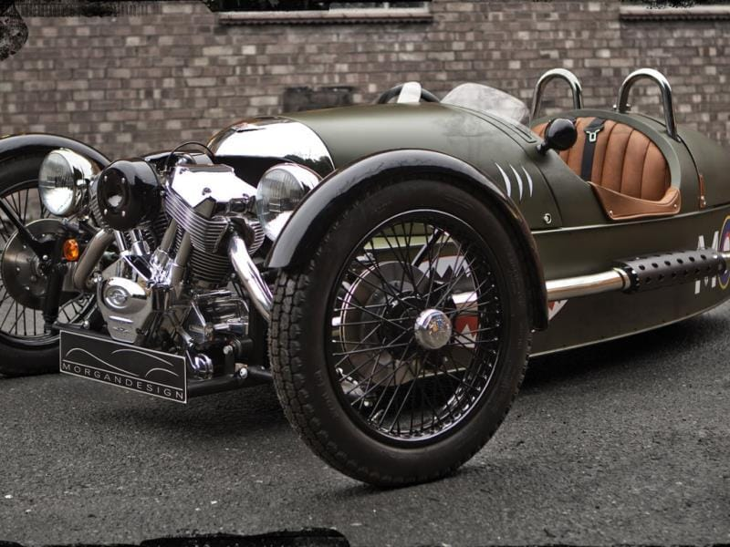 The Morgan Three-wheeler €32,750/$44,700 : Impractical and adorable in equal measure the Morgan three-wheeler doesn't even have a real, water-cooled car engine. No, it's got an air-cooled V-Twin typically found on a motorbike instead. But that hasn't stopped a limited hand-built supply outstripping demand. But be warned this is a car solely for the summer as it offers absolutely no protection from rain, sleet or snow, or from potholes for that matter. So keep it on the track. If you're looking for something equally eccentric but slightly easier to live with, the Morgan Plus 8 is also worth considering. Photo:AFP