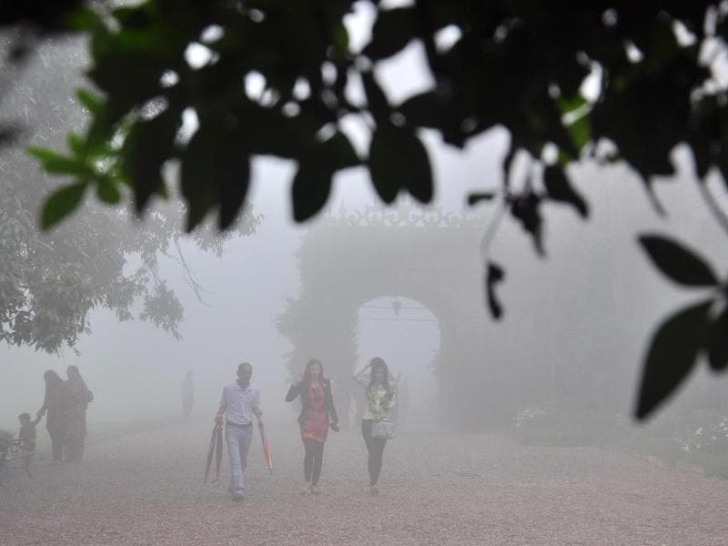 Indian Institute of Advance Studies engulfed in fog in Shimla. Santosh Rawat/HT