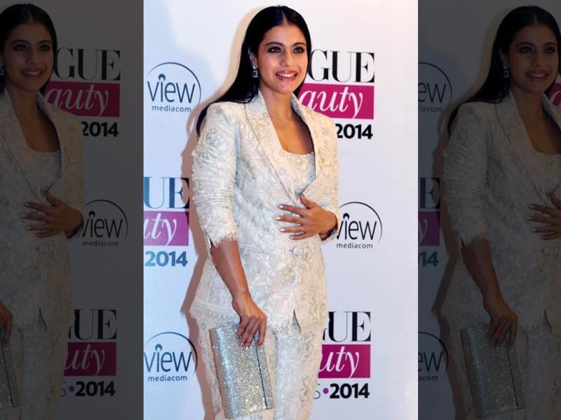 Bollywood actor Kajol Devgan attends the 2014 Vogue Beauty Awards in Mumbai. (AFP)