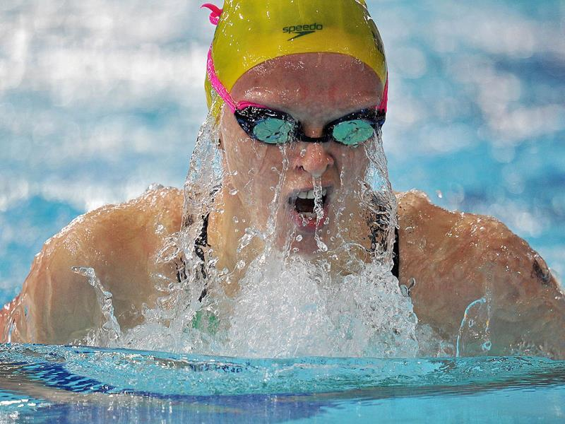 Keryn McMaster of Australia competes in the Women's 400m Individual Medley heat during the 2014 Commonwealth Games at Tollcross International Swimming Centre (AFP Photo)
