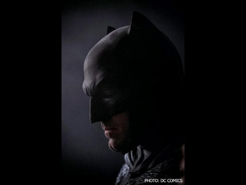 For Batman's 75th birthday, DC Comics is displaying a new, dark image of Ben Affleck as the Caped Crusader at its San Diego Comic-Con booth.