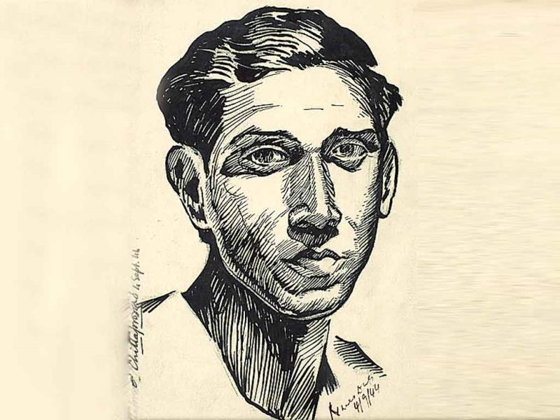 Naren Das Medium: Brush and ink on paper Period: 1944  First showcased in 2011 in the Capital, Delhi Art Gallery's (DAG) Chittaprosad: A Retrospective, pays homage to the artist's political, social and artistic sensibilities.