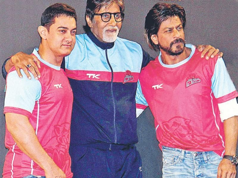 From Bollywood biggies Amitabh Bachchan, Shah Rukh Khan and Aamir Khan to master blaster Sachin Tendulkar — it was a big celeb gathering at a sporting event in Mumbai.