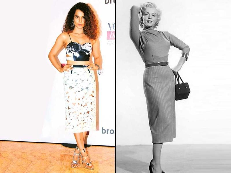 Skirts on high-speed If going for a high-waisted pencil skirt, you might be worried about a bumpy waistline. So don't accentuate it further by opting for a broad belt, as it shifts the focus to the problem area. To combat the sliced waist issue, choose a peplum or an empire waist that curtains the flab. If that's not a dealbreaker, crop tops are the way to go.
