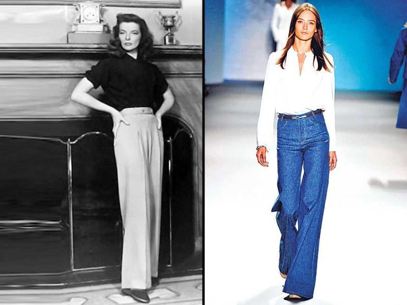 The lowers take an up-turnRemember the iconic Yves Saint Laurent's Le Smoking — a tuxedo for the ladies with an androgynous silhouette, finished with high-waisted satin trousers? Channel the vibe by going for a pleated-waist trouser, topped with a slim metal belt. To avoid a cameltoe, make sure the fit is not too tight, and the waistline, not too high.
