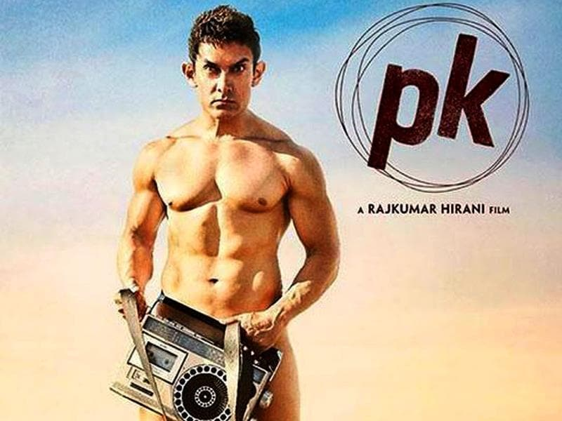 Aamir Khan in the first poster of PK.