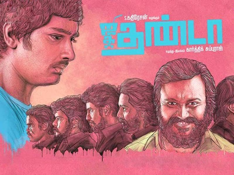 The film's villain Bobby Simhaa is the surprise package of the film. In another interview, director Subbaraj said he cast Simhaa because he was the most unexpected choice for the role. (jigarthanda/Facebook)