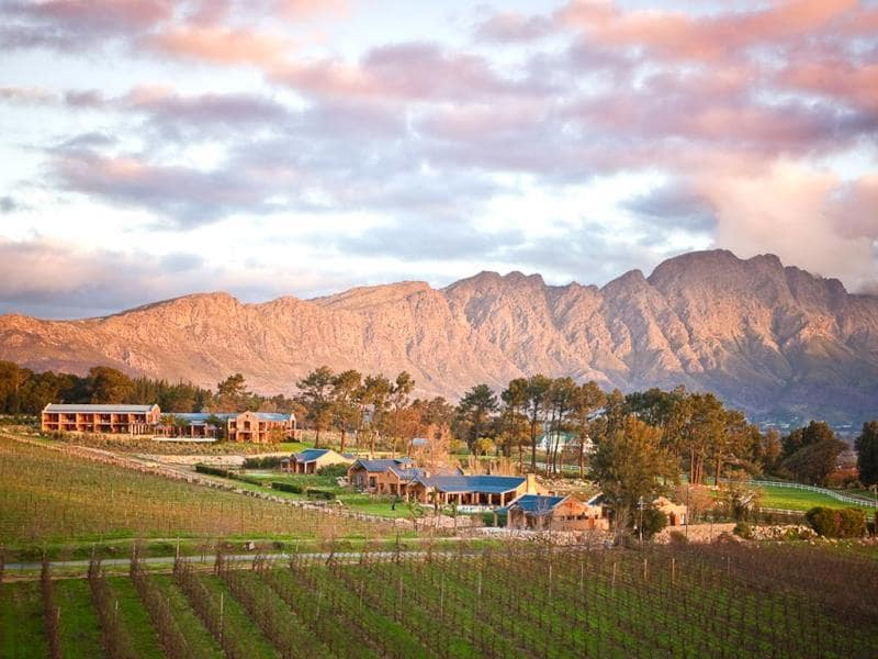 The property is set in the Franschhoek valley, also known as the food and wine capital of South Africa.