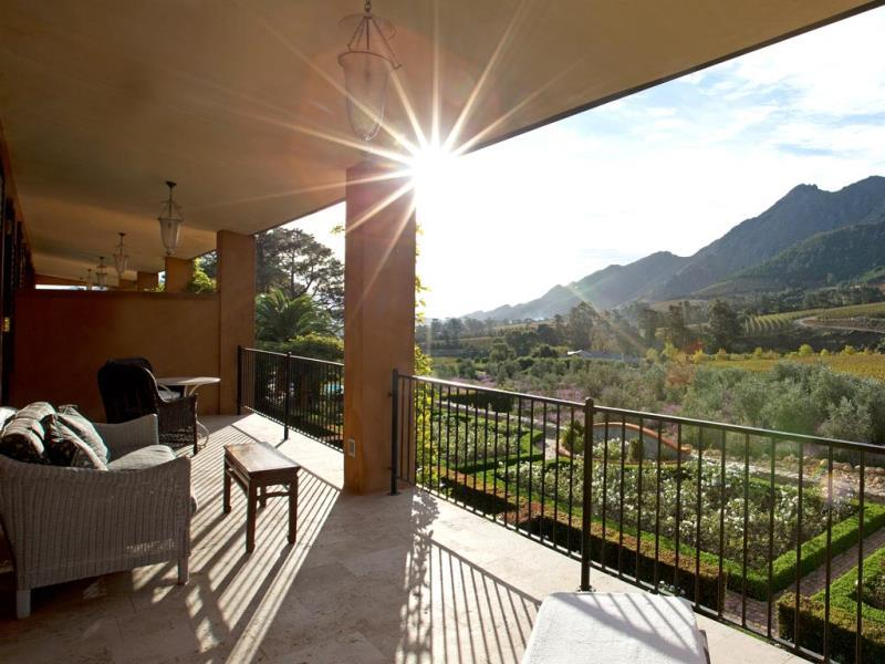 Suites open out onto verandas with mountain views..