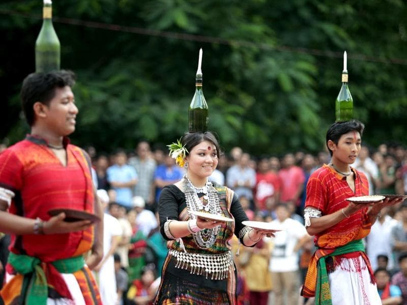 Bangladeshis dance during a celebration to mark International Day of the World's Indigenous People in Dhaka, Bangladesh. (AP Photo/AM Ahad)