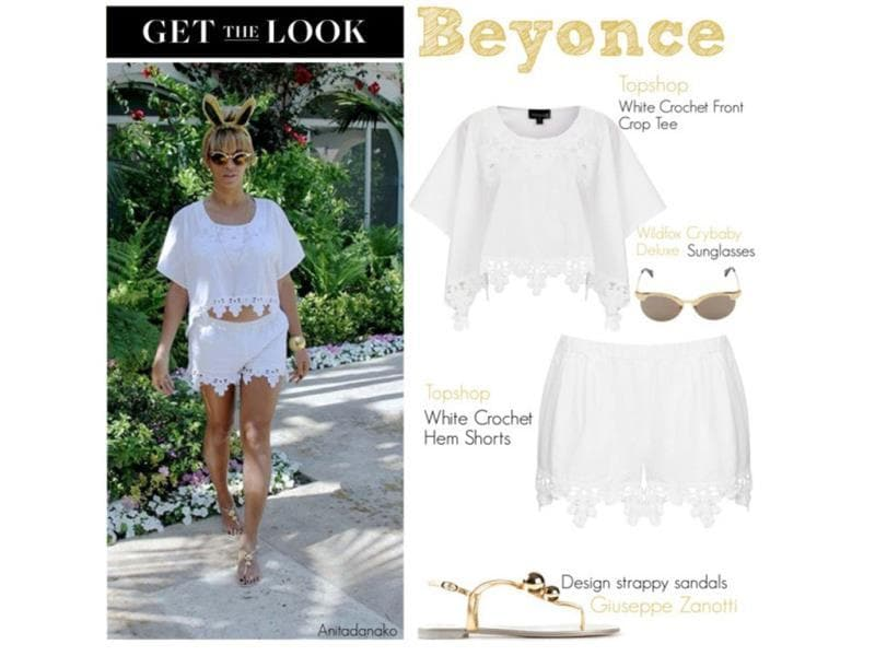 Pair the latest fad-the crop top-with a stunning pair of shorts like that and we promise you Beyonce will be proud.