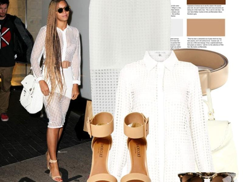 Who says matchy-matchy is so 90's? Here is Beyonce proving them wrong.