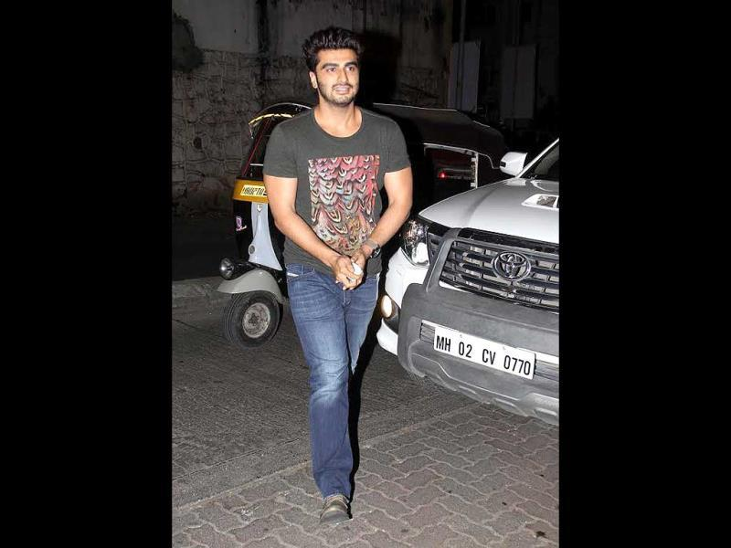 Arjun Kapoor was also spotted at the wrap-up bash for Bdlapur. (Photos: Yogen Shah)