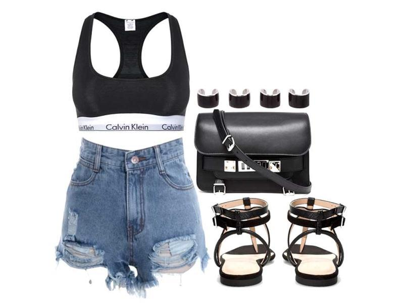 Here are some style briefs: everything from a casual, denim-oriented jeans line to accessories. With a clean aesthetic that draws on minimalism as well as classical American influences, we offer something for the elegant working woman as well as trendy young clubbers. (All photos: AFP) Calvin Klein Underwear top, shorts via oasap.com, Zara shoes, Proenza Schouler bag, Maison Martin Margiela rings