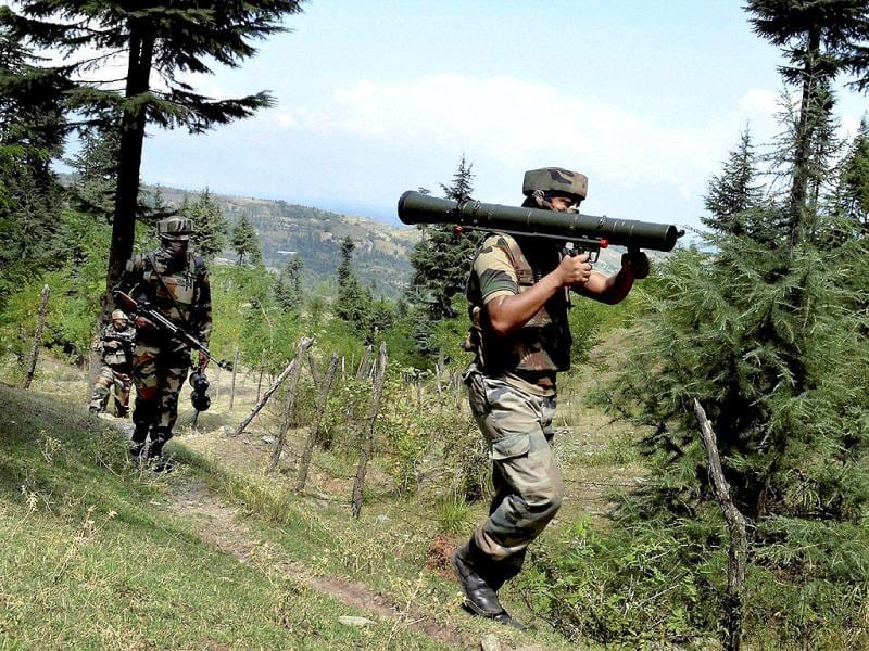 Army soldiers started massive search operation against militants after an enounter at Kalaroos (Lolab) Kupwara district of North Kashmir. (PTI Photo)