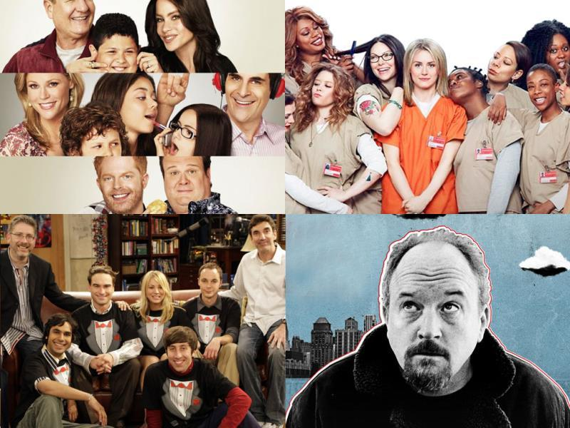 Oustanding Comedy Series:Modern Family, Orange is the New Black, Louie, The Big Bang Theory, Veep and Silicon Valley are in fray.