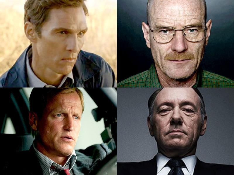 Outstanding Drama Lead Actor:Matthew McConaghuey for True Detective, Bryan Cranston for Breaking Bad, Kevin Spacey for House of Cards, Woody Harrelson for True Detective, Jeff Daniels for The Newsroom and Jon Hamm for Mad Men