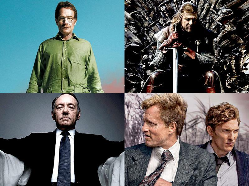 Outstanding Series in Drama:Breaking Bad, Game of Thrones, True Detective, House of Cards, Mad Men and Downton Abbey.