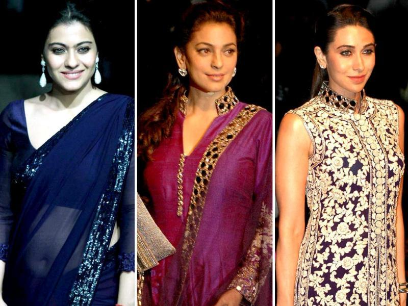 Kajol, Jugi Chawla and Karisma Kapoor turned catwalk queens at the fashion do.