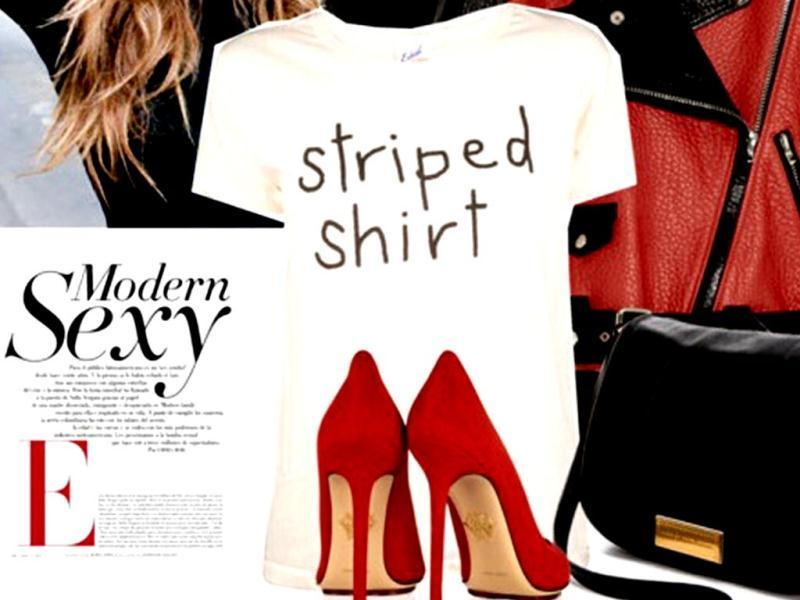 Word playEdith A/ Miller t-shirt, Acne jacket, Isabel Marant pants, Charlotte Olympia shoes, Marc by Marc Jacobs bag