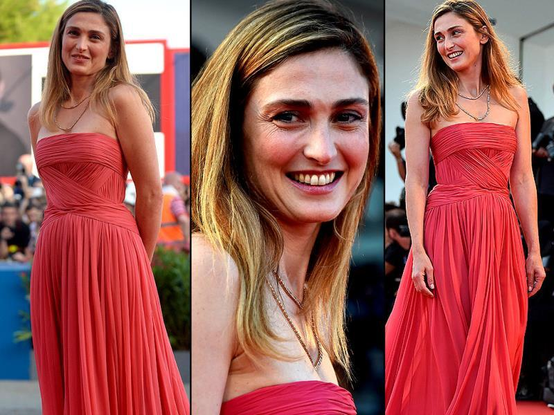 French actor Julie Gayet arrives for the screening of the movie Birdman or the Unexpected Virtue of Ignorance presented in competition at the opening ceremony of the 71st Venice Film Festival on August 27, 2014 at Venice Lido. (Agencies)