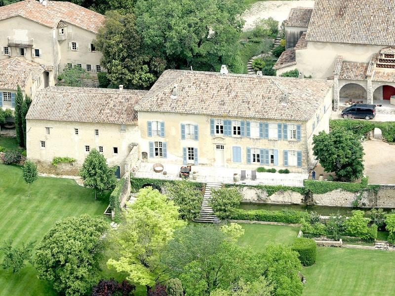 File photo shows the Miraval property in Correns, near Brignoles, southern France, which is owned by Angelina Jolie and Brad Pitt. Jolie and Pitt were married Saturday Aug. 23, 2014 in Chateau Miraval, France, says a spokesman for the couple. (AP)