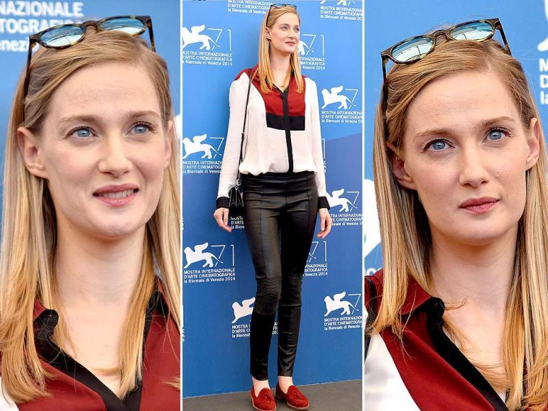 Italian actor Eva Riccobono poses during the photocall of the movie La Vita Oscena presented in the Orizzonti selection at the 71st Venice Film Festival on August 28, 2014 at Venice Lido. (Agencies)