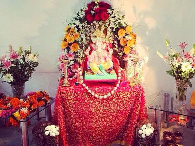 Shraddha Kapoor shares her Lord Ganesha moment on Twitter with an impressive puja sthal image. (ShraddhaKapoor/Twitter)