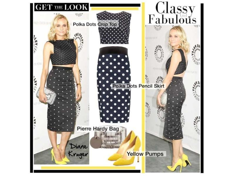 Dotted allureDolce & Gabbana top, New Look skirt, Manolo Blahnik shoes, Pierre Hardy bag, Givenchy belt