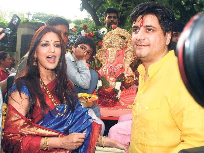 Sonali Bendre with husband Goldie Behl (Photo: Yogen Shah)