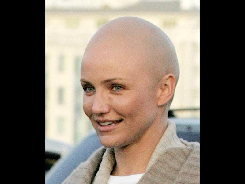 Cameroon Diaz went bald for My Sister's Keeper (2009).