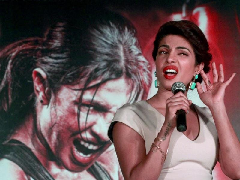 Priyanka Chopra during her upcoming movie Mary Kom's promotinal event, in New Delhi. (Sanjeev Verma/ Hindustan Times)