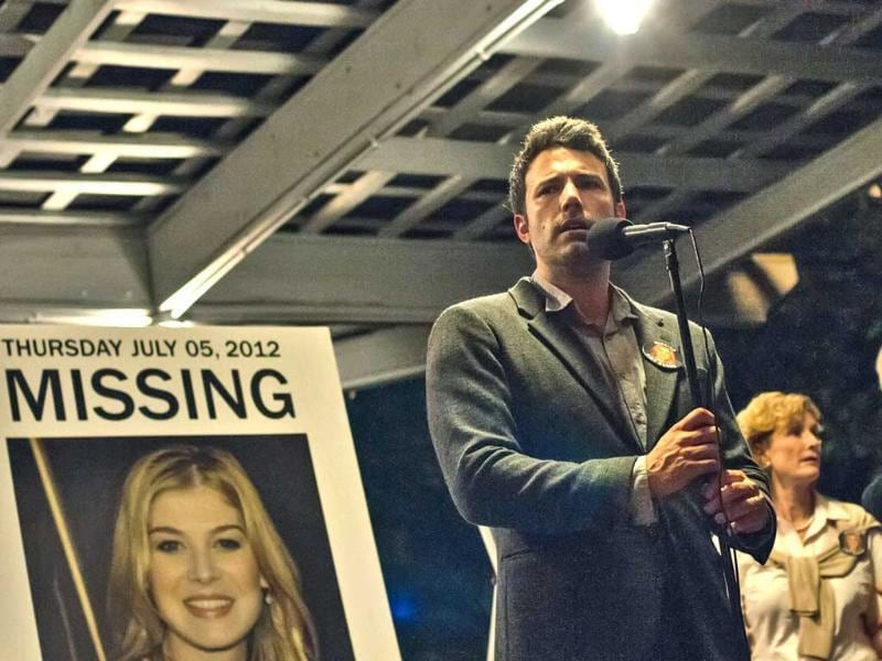 Ben Affleck, Lisa Barnes and David Clennon in a scene from Gone Girl. The film, based on the best-selling novel, will release on October 3 in America. (AP)