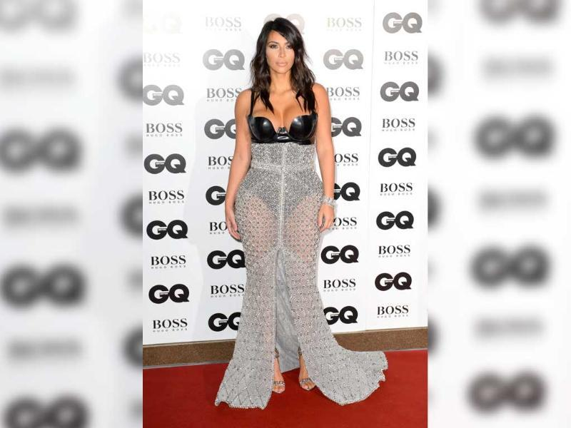 At an award event organised by the same magazine, Kim was seen wearing a risque dress. She said the original dress was much less revealing.