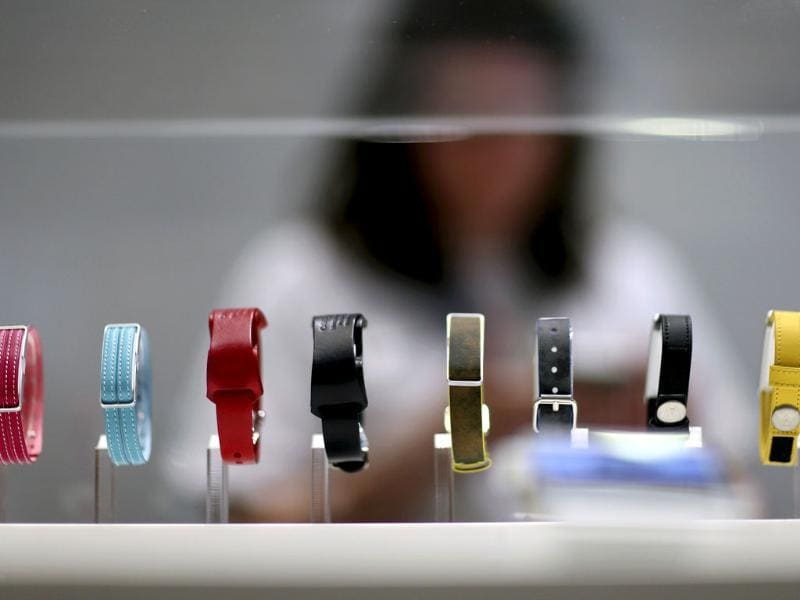 Sony Smartband Talk are seen on display during the IFA Electronics show in Berlin. (Reuters)