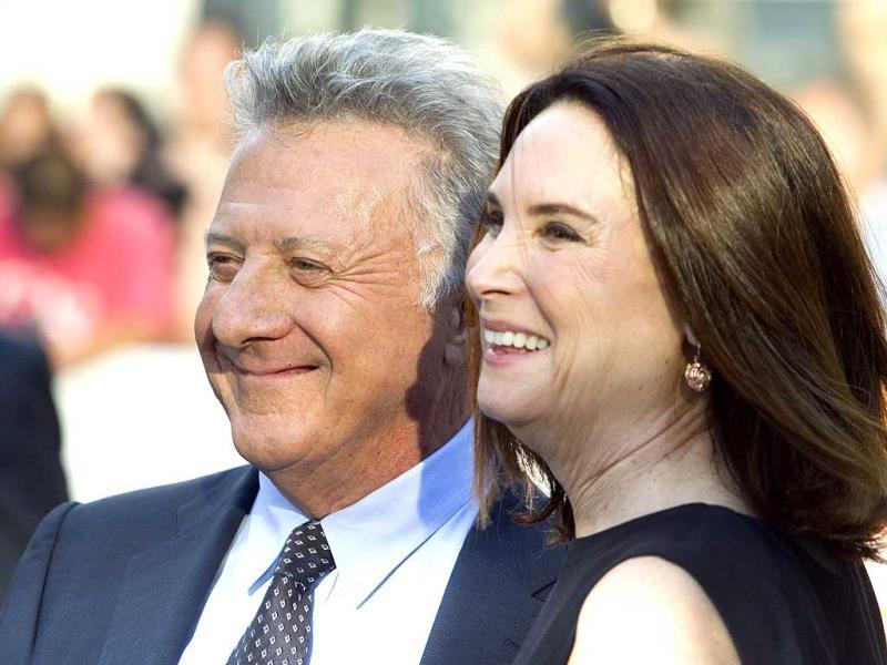 Cast member Dustin Hoffman (L) and his wife Lisa arrive for the premiere of the film Boychoir at the Toronto International Film Festival (TIFF) in Toronto, September 5, 2014. (Reuters)