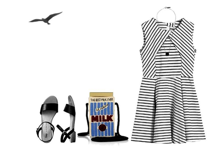 For all those fashionistas, pairing up this 'milk carton' bag with a monochrome summer dress is definitely a good idea. Also, you can send out a message to help promote healthy habits.