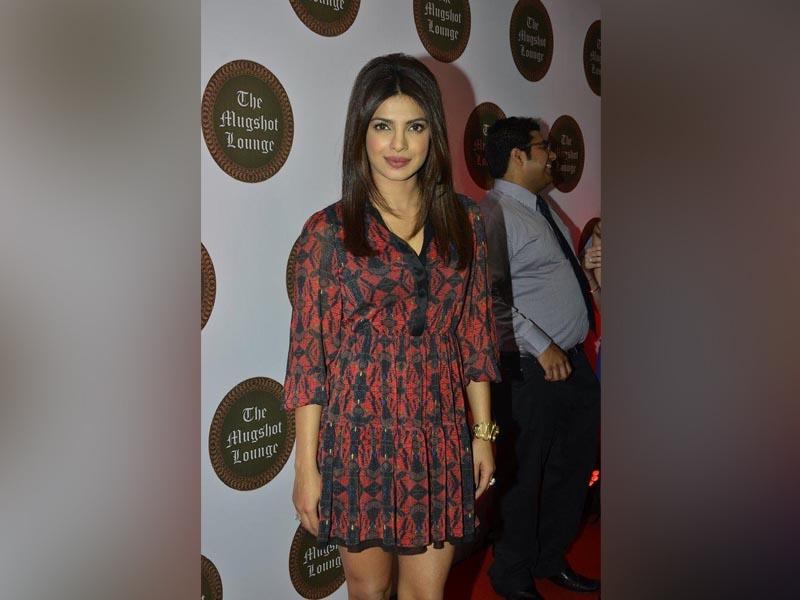 Actor Priyanka Chopra during the launch of her brother Siddharth Chopra`s pub-lounge entitled Mugshot Lounge in Pune. (Photo: IANS)