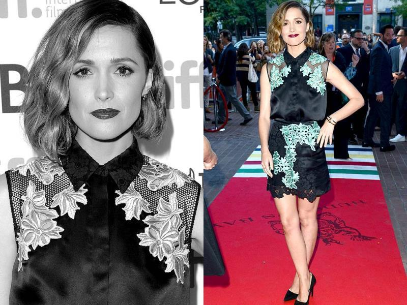 Actor Rose Byrne attends the Adult Beginners premiere during the 2014 Toronto International Film Festival at Ryerson Theatre on September 8, 2014 in Toronto, Canada.(AFP)
