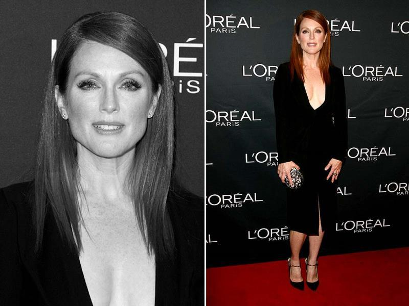 Actors Juliane Moore prepares with L'Oreal for the Still Alice Premiere during the 2014 Toronto International Film Festival at the Shangri-La Hotel on September 8, 2014 in Toronto, Canada. (AFP)
