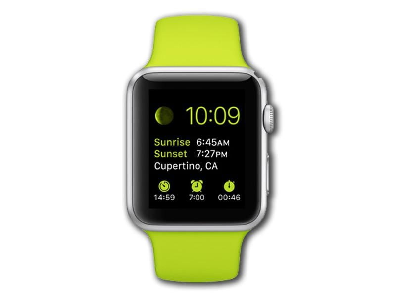 The picture shows the Apple Watch Sport variant which, like the other smartwatch models, will start at $349 and will be available early next year. It works with iPhone 5, 5c, 5s, 6, and 6 Plus and comes with colourful wrist bands.