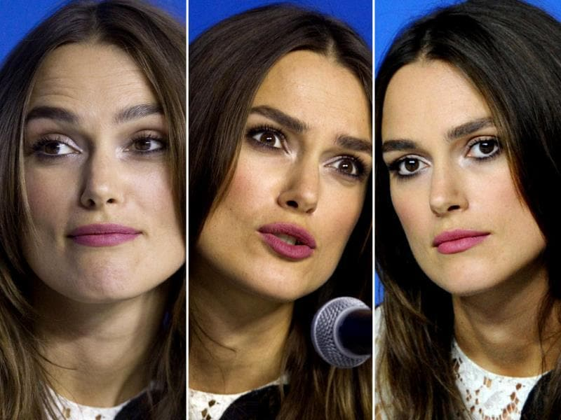 Actor Keira Knightley at the promotion of The Imitation Game at the Toronto International Film Festival in Toronto, September 9, 2014. (Agencies)