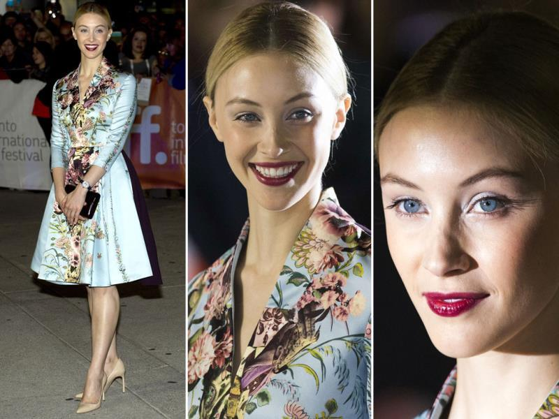 Actor Sarah Gadon at the promotions of new movie Maps To The Stars during the 2014 Toronto International Film Festival in Toronto on Tuesday, September 9, 2014. (Agencies)