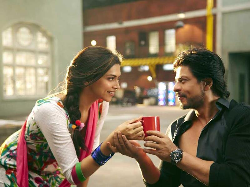 Deepika Padukone, SRK in a still from Happy New Year song Manwa Laage