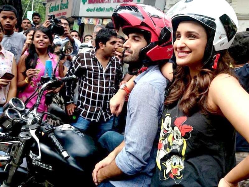 Parineeti and Aditya kick-start their #FoodYatra for Daawat-e-Ishq promotions.